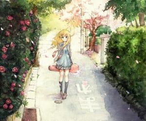 anime girl, fanart, and kaori miyazono image