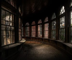 corridor, dark, and old image