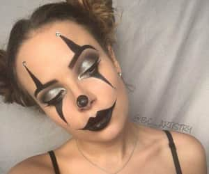clowns, Halloween, and make up image