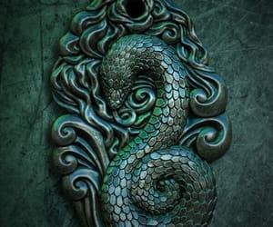 slytherin, harry potter, and snake image