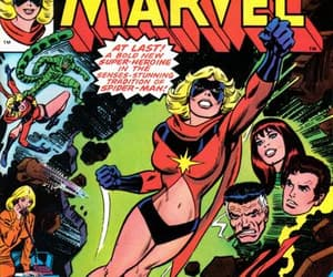 comic books, captain marvel, and ms marvel image