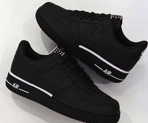 shoes, black, and nike image