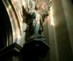 statue, angel, and art image