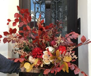 autumn, flowers, and leaves image