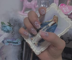 baby doll, nail art, and pink aesthetic image