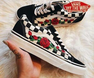 roses, vans, and shoes image