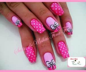 pink, laços, and white image