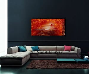 canvas, landscape painting, and treeart image