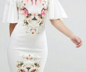 floral dress and modest image