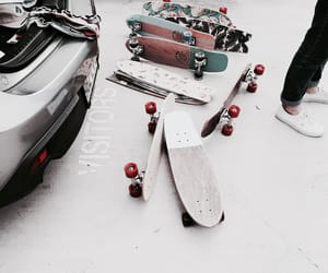 skateboard, skate, and car image