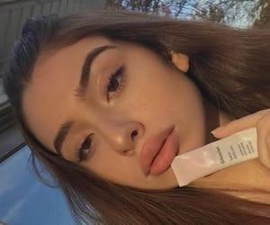 beautiful, girl, and eyebrows image