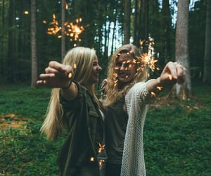 best friends, blonde, and cool image