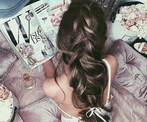 beautiful, braid, and cute hair image