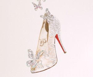 shoes, cinderella, and butterfly image