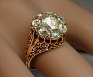 antique, diamond, and engagement image