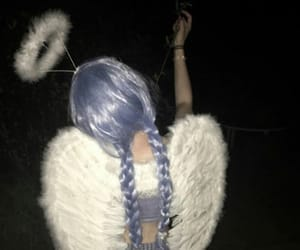 angel, girl, and blue image