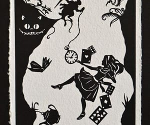 alice in wonderland, down the rabbit hole, and handmade image