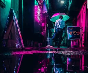 fluorescent, neon, and nights image