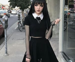 black, doll, and goth image