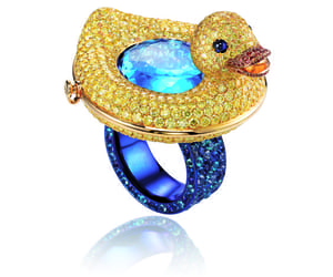duck, jewellery, and ring image