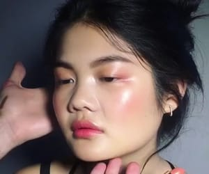 asian girl, clean makeup, and fashion image