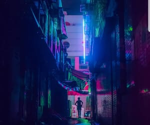 lights, neon, and nights image