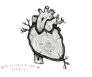 art, draw, and heart image