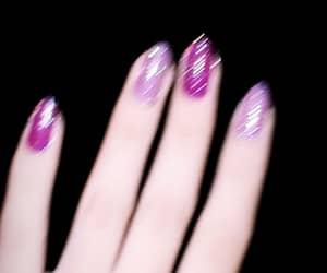 glitter, nails, and rosa image