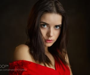 girl, model, and portrait image