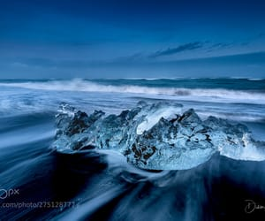blue, dark, and iceland image