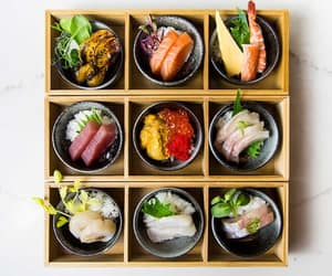 fish, seafood, and japanese food image