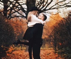 autumn, couple, and fall image