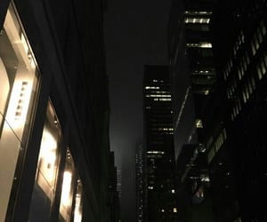 dark, city, and night image