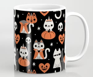 cat, Halloween, and home image
