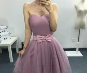 pink prom dress, prom dress short, and cute prom dress image
