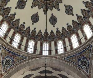 architecture, interior, and mosque image