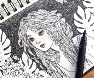 art, drawing, and fairy tales image