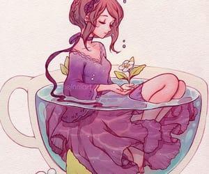 art, illustration, and mug image