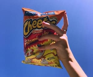 sky, cheetos, and aesthetic image