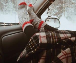 car, christmas, and winter image