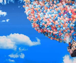 balloon, disney, and up image