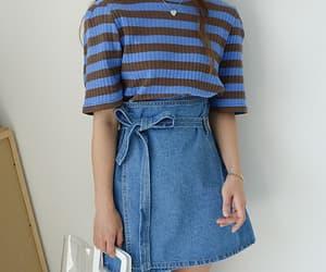 girl, korean, and blue image