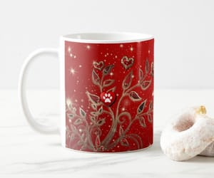 christmas, dogs, and mugs image