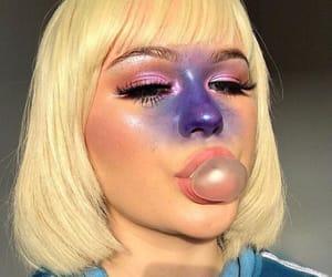 Halloween, makeup, and violet image