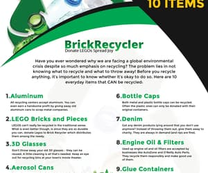 easy to go green, hard to recycle materials, and lego plastic bags image