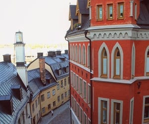 buildings, street, and sweden image