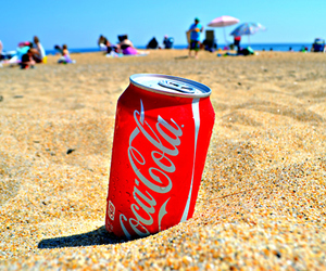 beach, summer, and coca cola image