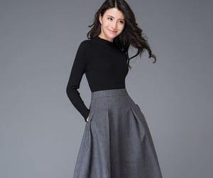 etsy, gray skirt, and winter skirt image