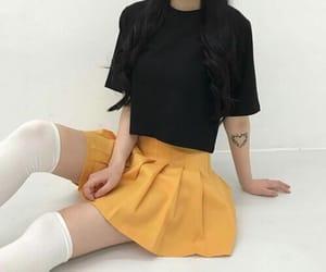 fashion, korean, and yellow image