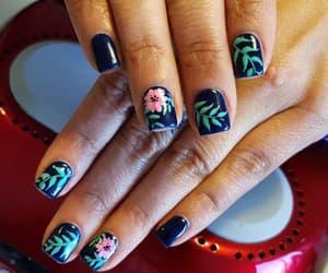 beauty, blue, and nail polish image